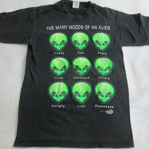VTG THE MANY MOODS OF AN ALIEN T-SHIRT SIZE SMALL